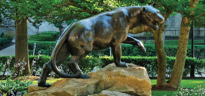 Statue of the Pitt Panther